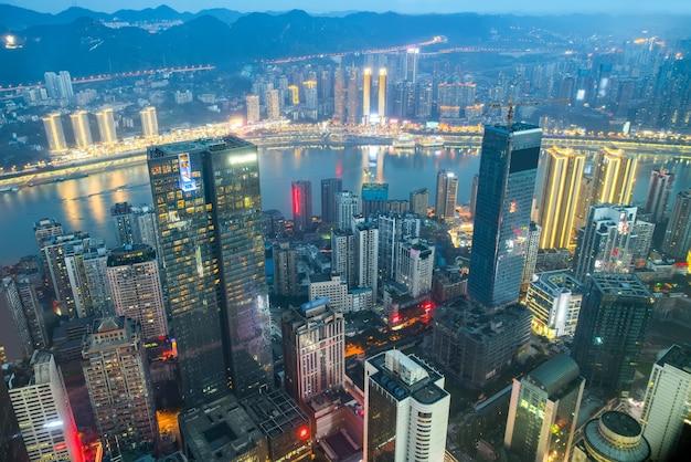 Luftaufnahmen chongqing stadt architektur skyline