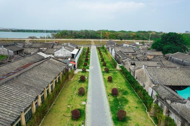 Luftaufnahmen der antiken stadt chaozhou in china