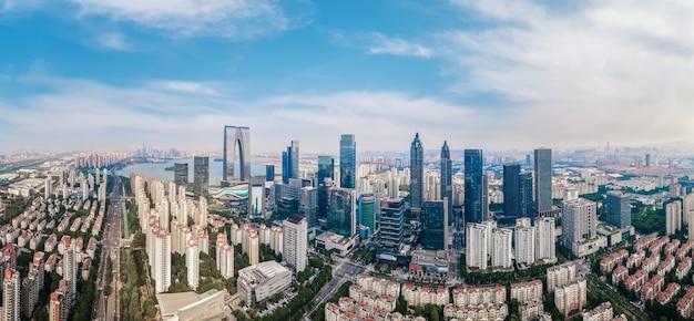 Luftaufnahmen des finanzzentrums von suzhou