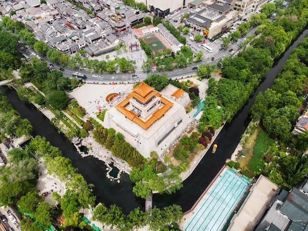 Luftaufnahmen des jinan jiefang pavillons