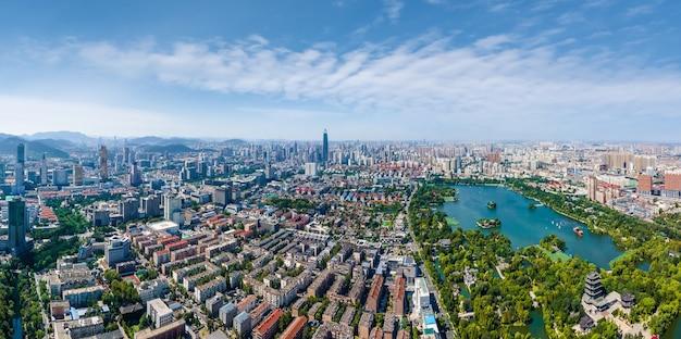 Luftaufnahmen vom jinan daming lake park