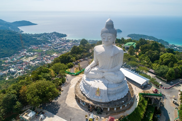 Luftbild buddha-statue