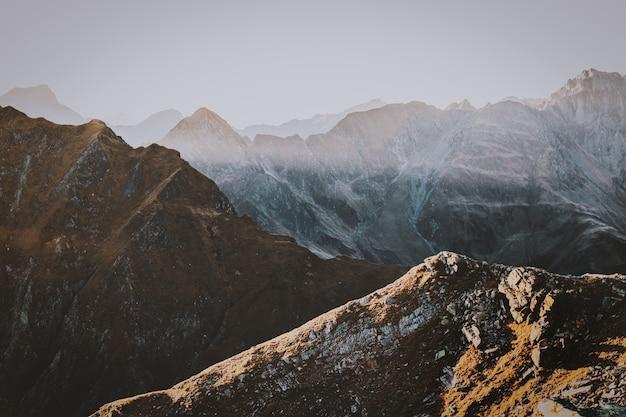 Luftbild der berge