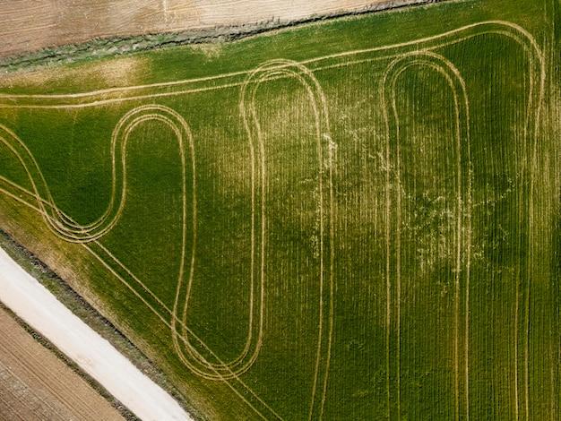Luftbild der natur