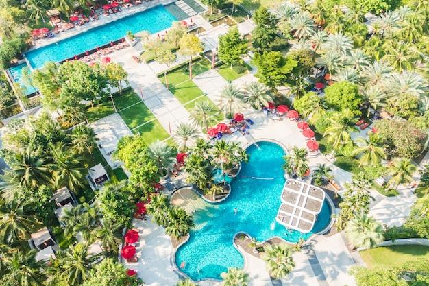 Luftbild des pools