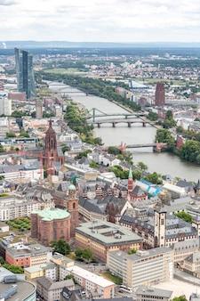 Luftbild frankfurt deutschland