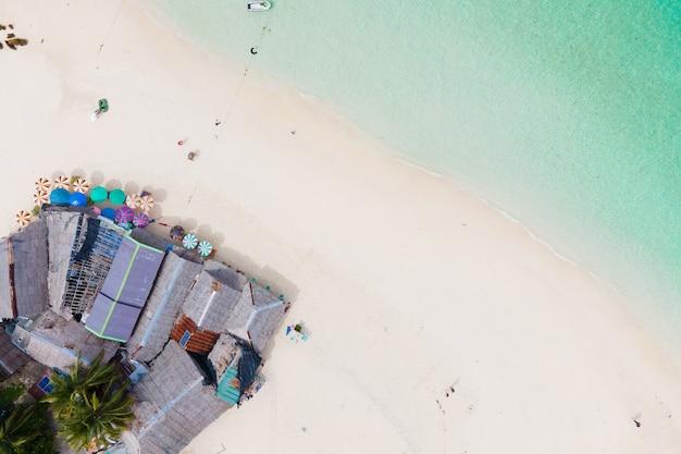 Luftbild strand und meer