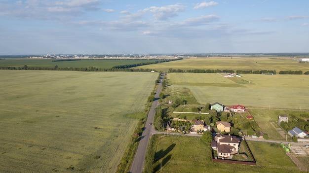 Luftbild über private hütte