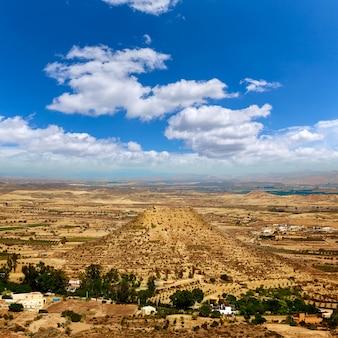 Luftbild von mojacar almeria dorf in spanien