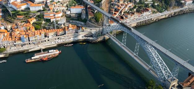Luftbild von porto, portugal, europa