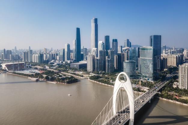 Luftbildfotografie china guangzhou moderne stadtarchitektur landschaft skyline