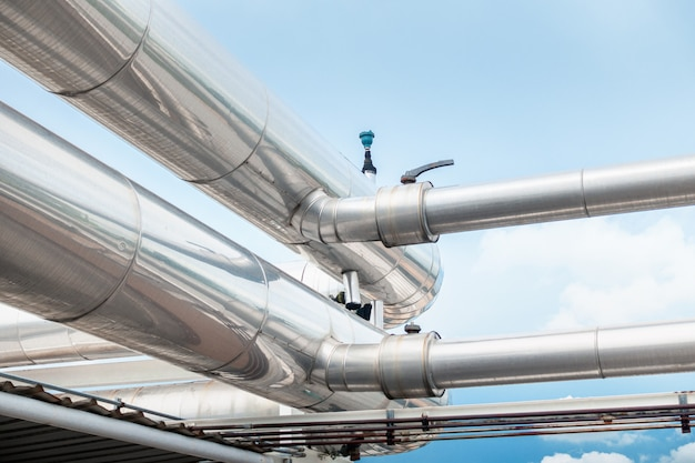 Luftkühler-pipeline und hlk-system des kaufhauses