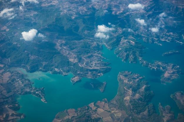 Luftlandschaft des taurusgebirges