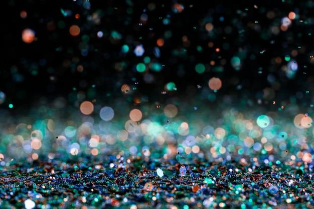 Lumineszierender mehrfarbiger glitzer
