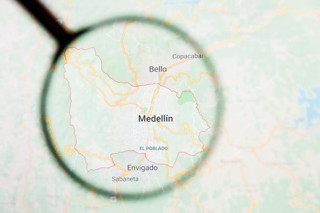 Lupe auf kolumbien karte