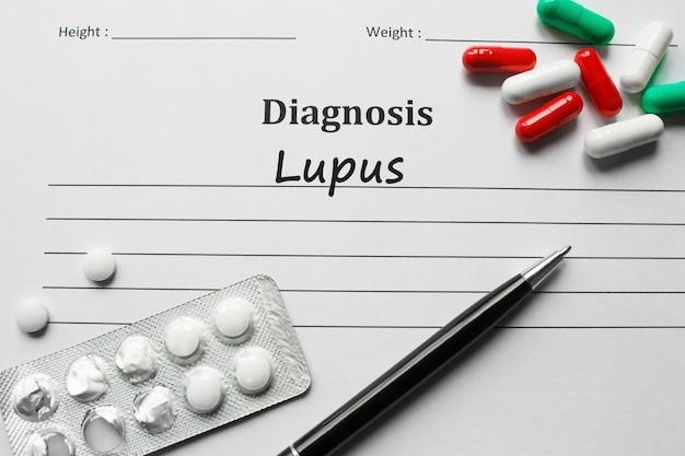 Lupus auf der diagnoseliste, medizinisches konzept