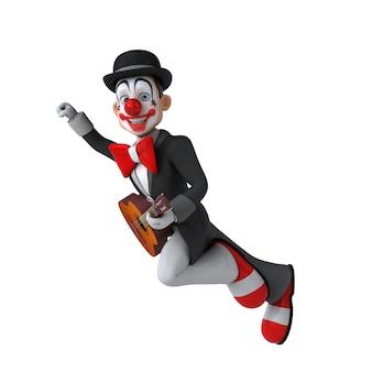 Lustige 3d-darstellung eines lustigen clowns