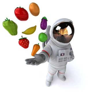 Lustige astronauten-3d-illustration