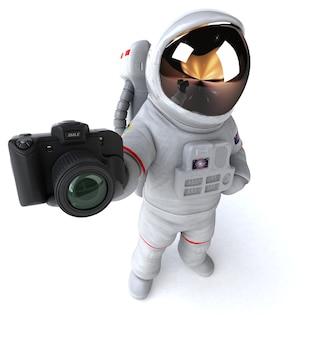 Lustige astronauten-3d-illustration