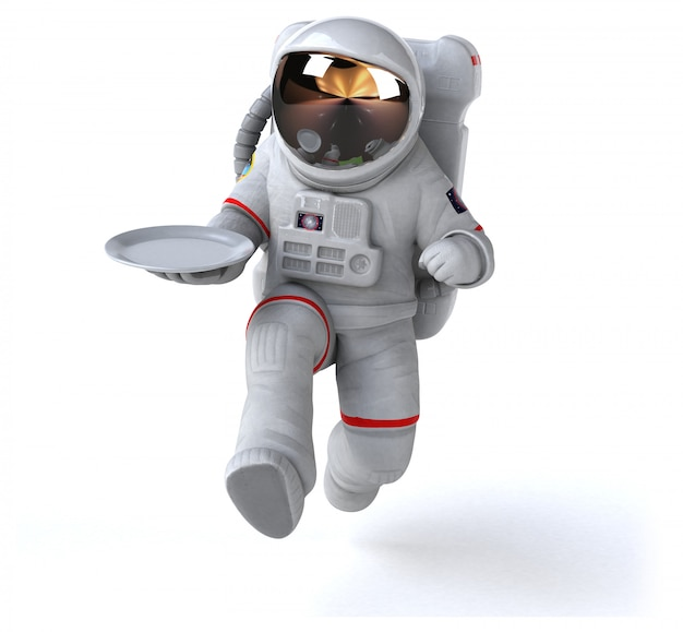 Lustige astronautenanimation
