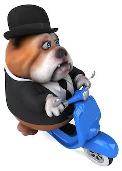 Lustige bulldogge - 3d-illustration