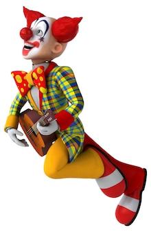 Lustige clown-3d-illustration
