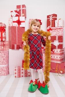 Lustige dekorationen für die weihnachtszeit