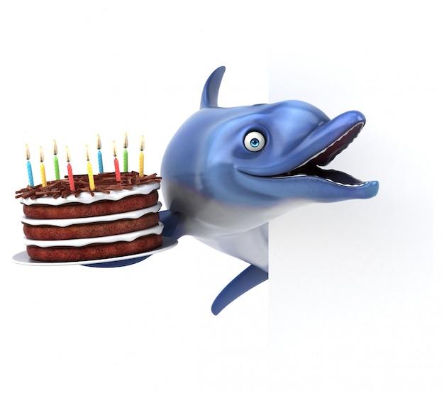 Lustige delphinanimation