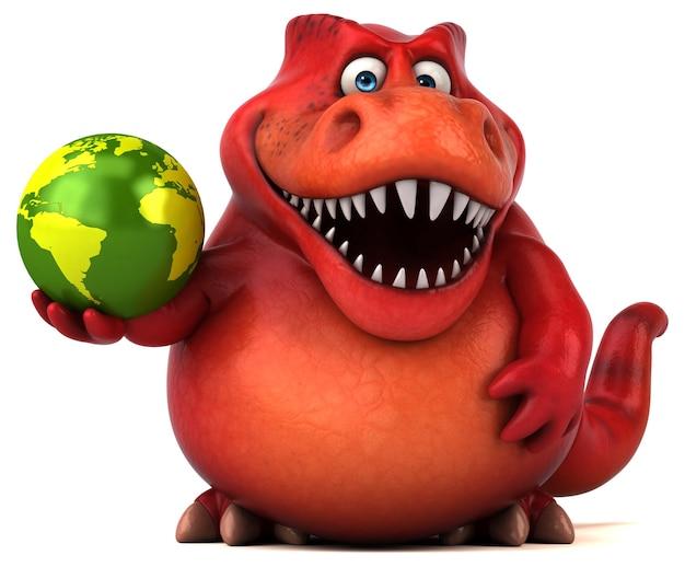 Lustige dinosaurier-3d-illustration