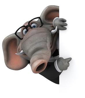 Lustige elefanten-3d-illustration