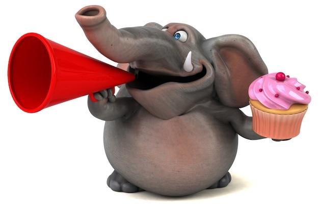 Lustige elefantenillustration