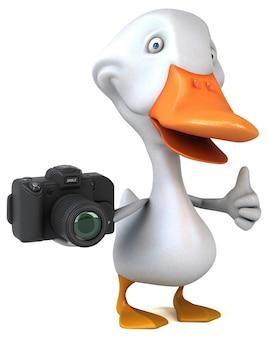 Lustige ente mit kamera