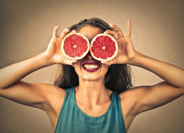 Lustige fruchtige augen