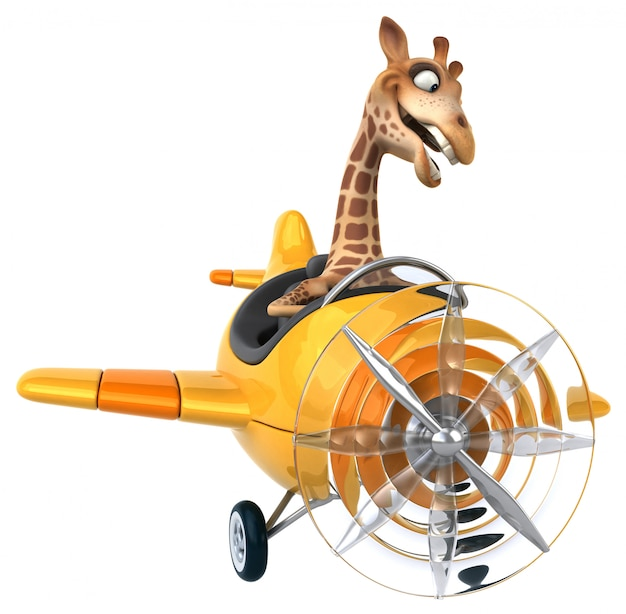 Lustige giraffenanimation