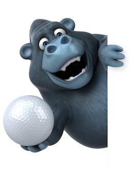 Lustige gorilla-animation