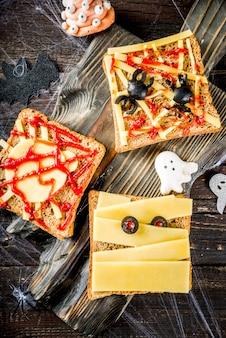 Lustige halloween-sandwiches
