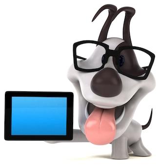 Lustige hund 3d-illustration