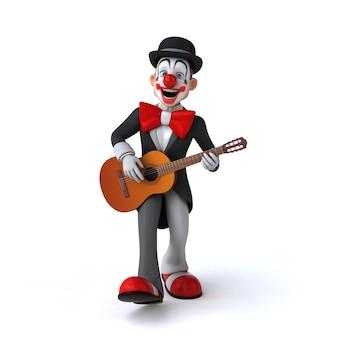 Lustige illustration eines lustigen clowns