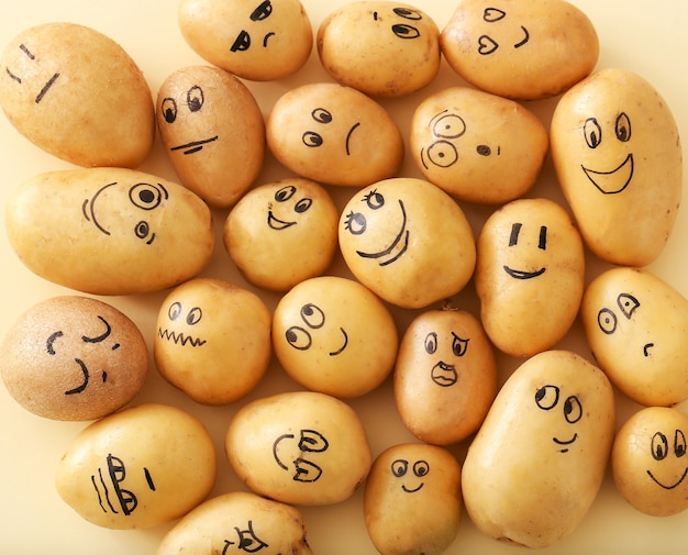 Lustige kartoffeln