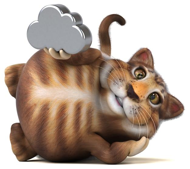 Lustige katze - 3d-illustration