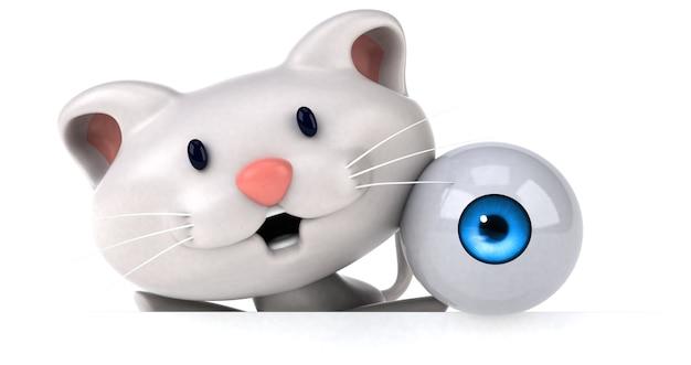 Lustige katze 3d-illustration