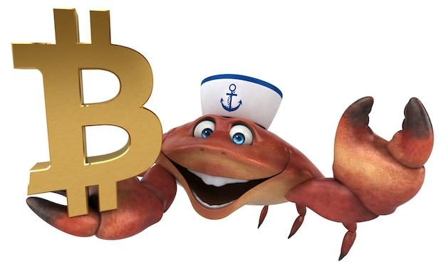 Lustige krabbe - 3d-charakter