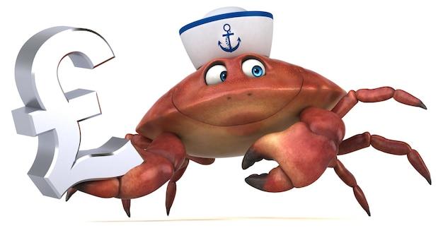 Lustige krabbe - 3d-illustration