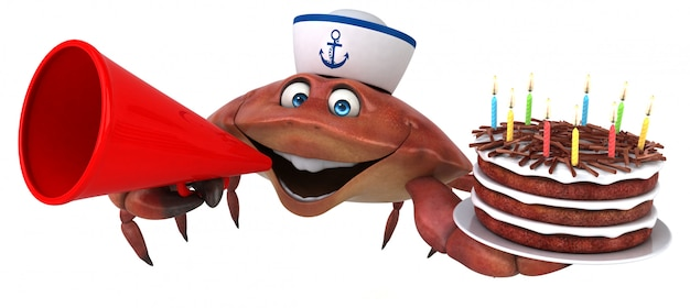 Lustige krabbenanimation