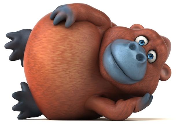 Lustige orang-utan-animation