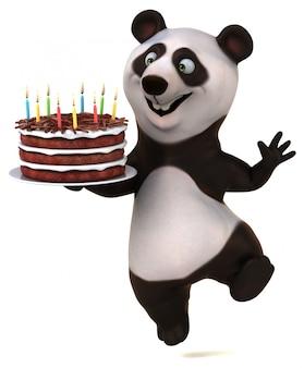Lustige panda-animation