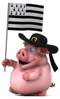 Lustige schweineanimation