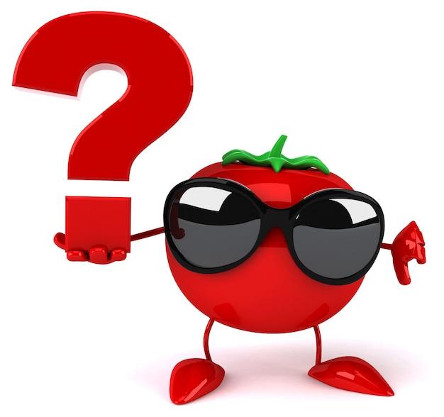 Lustige tomatenanimation