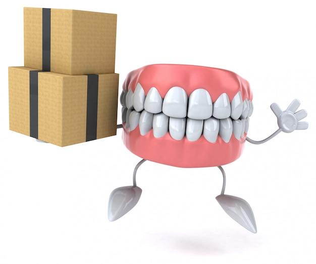 Lustige zähne - 3d-charakter