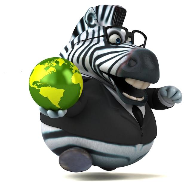 Lustige zebra-3d-illustration
